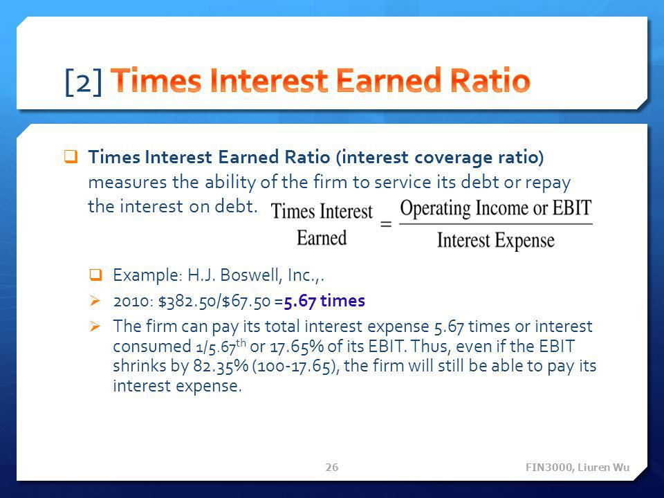 [2] Times Interest Earned Ratio